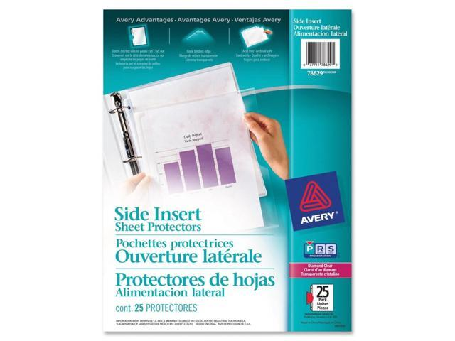 Avery Side Insert Sheet Protector