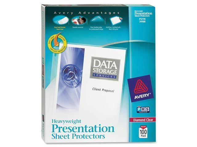 Avery Diamond Clear Top Loading Sheet Protector