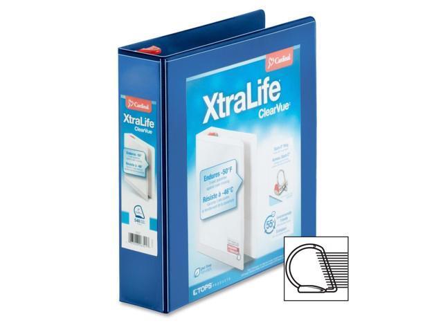 Cardinal XtraLife ClearVue Non-Stick Locking Slant-D Ring Binder