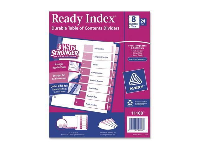 Avery Uncollated Index Divider
