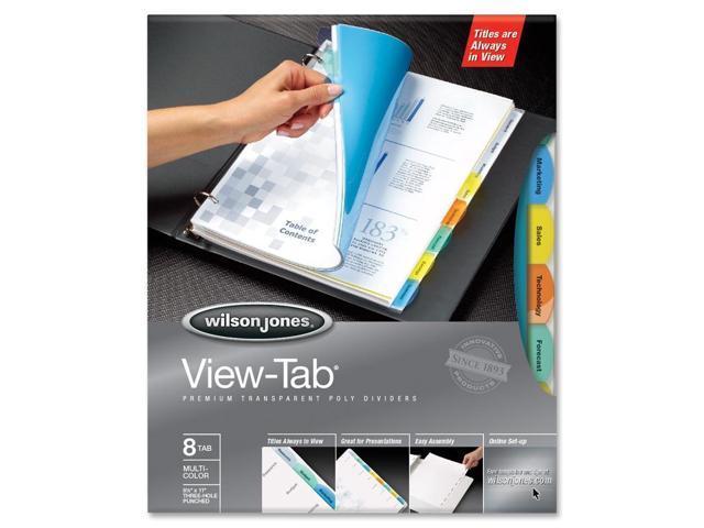 Wilson Jones View-Tab Transparent Divider