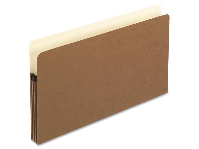 Pendaflex 1526EOX 3 1/2 Inch Expansion File Pocket, Manila/Red Fiber, Legal, 25/Box, 1 Box