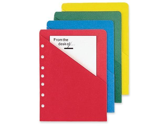 Day-Timer ColorLife 7 Hole Punched Slash Pocket