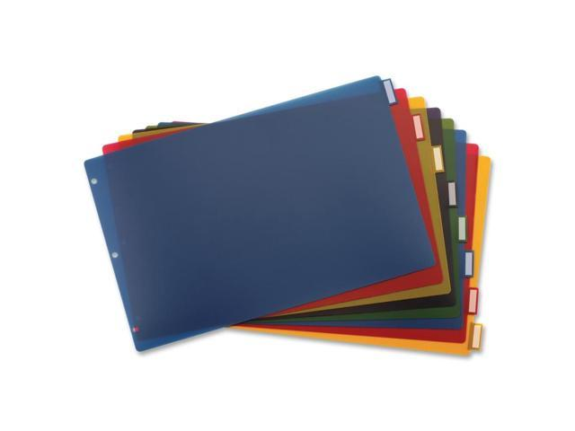 Cardinal 11inch x 17inch Poly Insertable Dividers, 8-Tab, Multi-Color