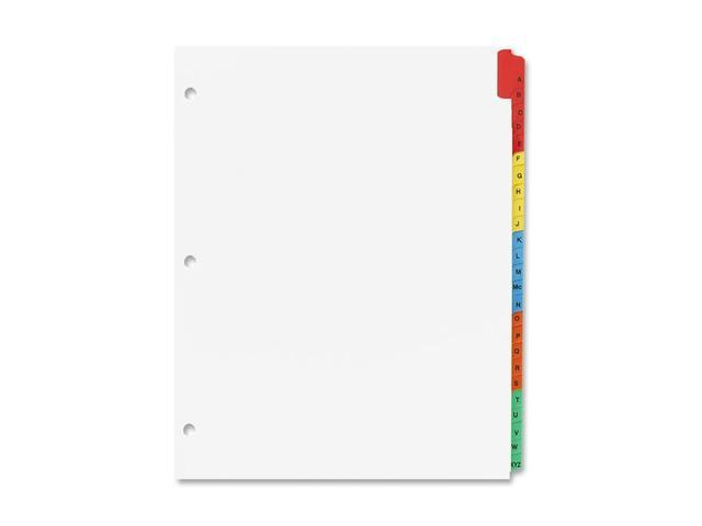 Sparco A-Z Quick Index Dividers With Contents Page
