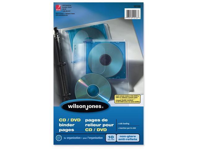 Wilson Jones CD/DVD/Zip Binder Pocket Page