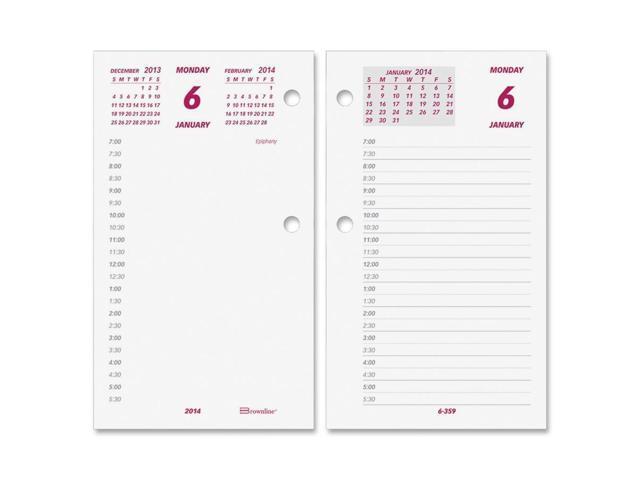 Daily Calendar Pad Refill 6 x 3-1/2 2016