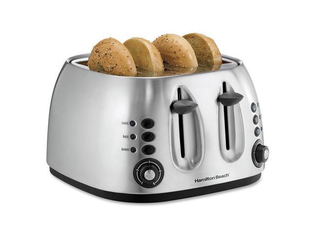 Hamilton Beach 4-Slice Brushed Finish Toaster