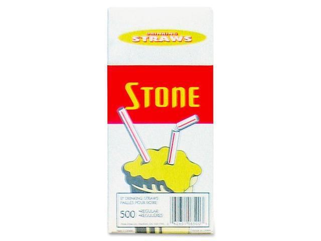 Bunzl Stone Straw Regular 8inch Plastic Straws