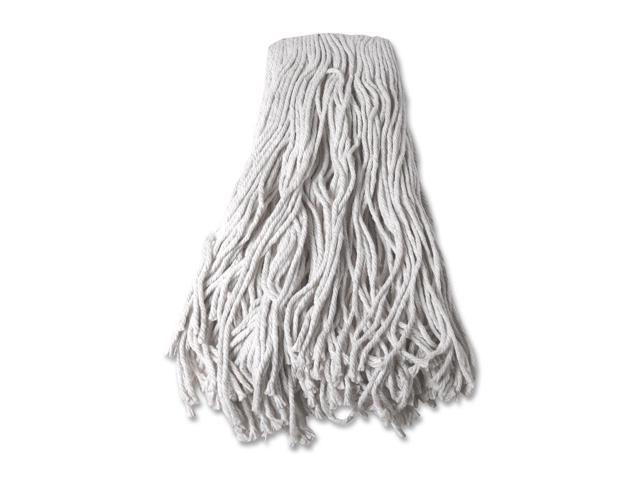 Mop Head, Refill, Cotton, 24 oz, 4-Ply, White
