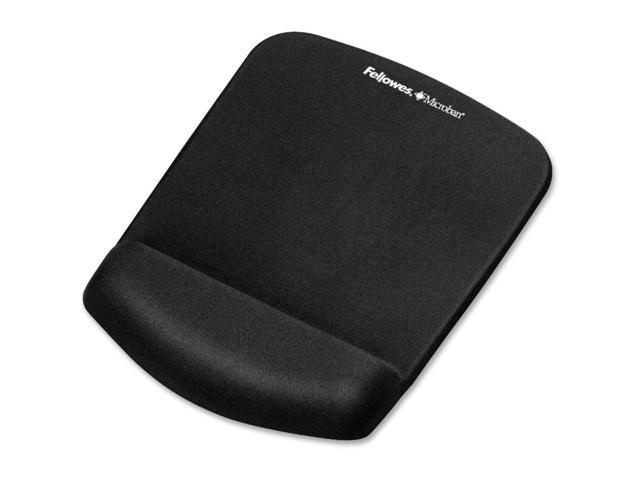 Fellowes PlushTouch Mouse Pad/Wrist Rest with FoamFusion Technology - Black