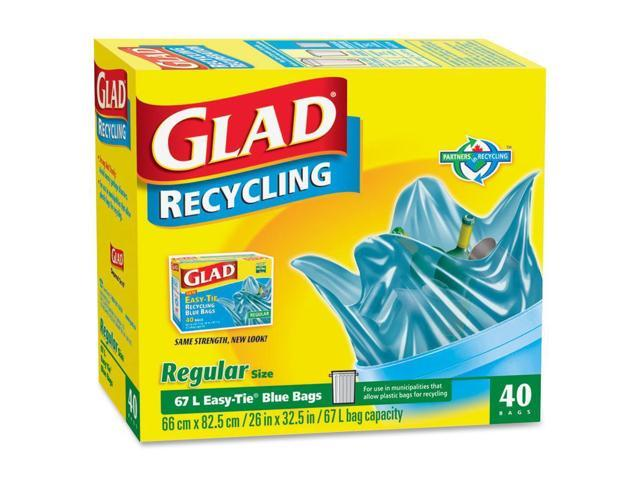Glad Easy-Tie Regular Recycling Bag