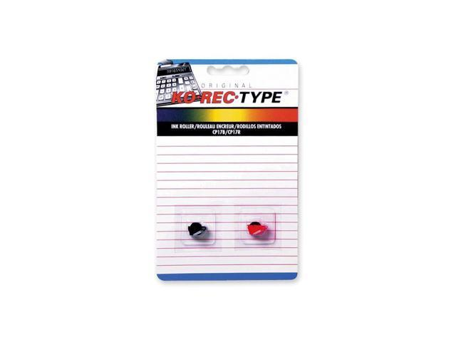 Ko-Rec-Type Black/Red Ink Roller