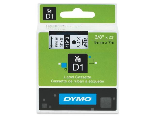 Dymo Black on White D1 Tape