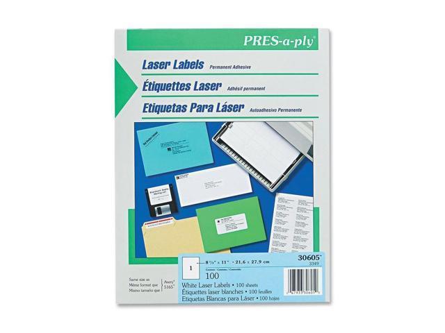 Avery Full Sheet Laser Label