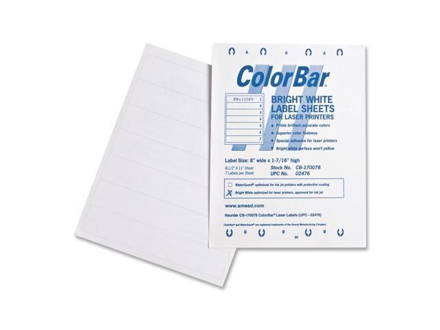 Smead ColorBar Label 02476