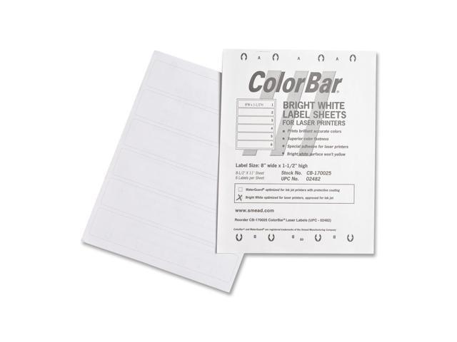 Smead ColorBar Label 02482
