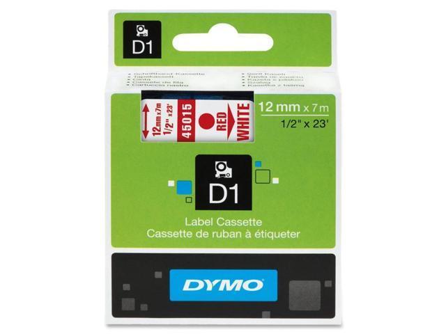 Dymo Red on White D1 Tape