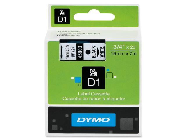 Dymo Black on White D1 Tape