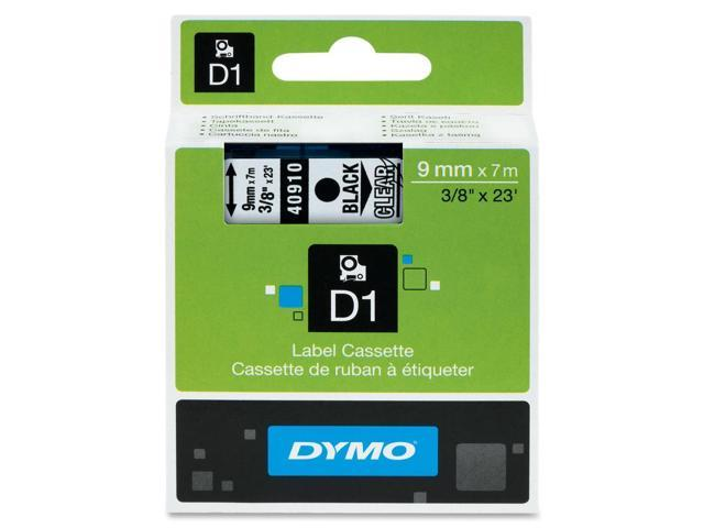 Dymo Black on Clear D1 Tape