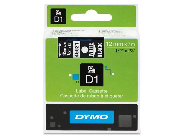 Dymo White on Black D1 Tape