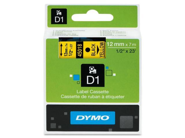 Dymo Black on Yellow D1 Tape