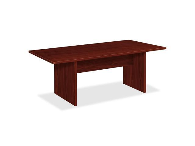 Basyx by HON Rectangular Conference Table with Slab Base