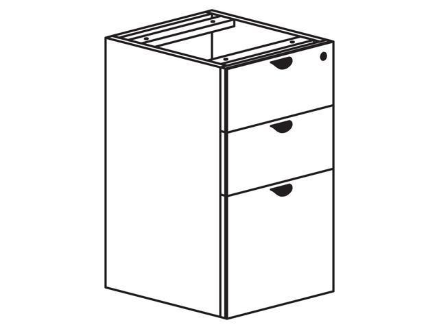 Heartwood Innovations Box/Box/File Pedestal