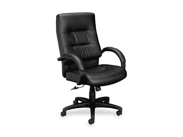 Basyx by HON VL691 Executive Plush Leather High-Back Desk Chair