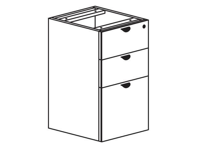 Heartwood Innovations Box/Box/ File Pedestal