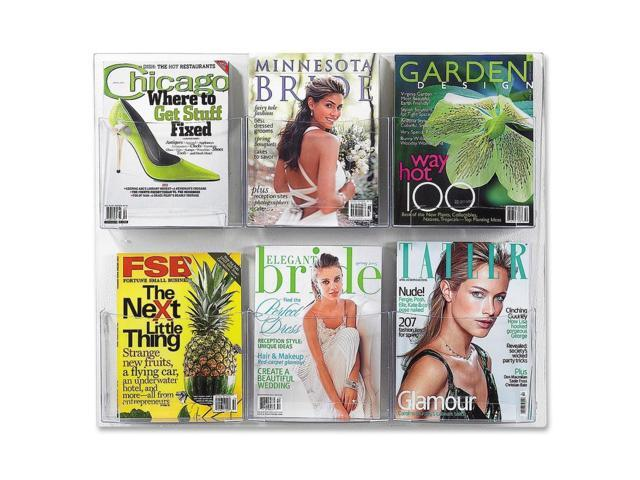 Safco Clear2c Magazine Display Rack