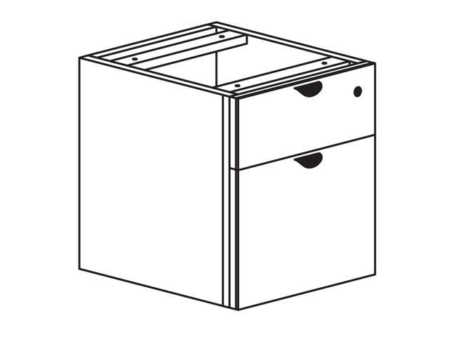 Heartwood Innovations Hanging Box File Pedestal