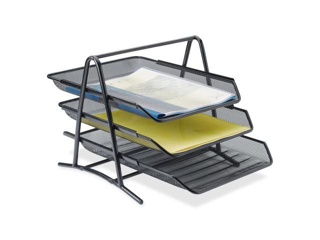 Lorell Steel Mesh 3-Tier Mesh Desk Tray