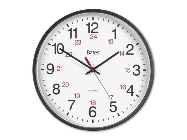 GBC 9847027 Bates 12/24 Quartz Wall Clock