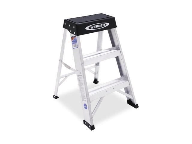 Werner Co 150BCA Aluminum Stepstool Type I 2-Foot Heavy-Duty - Industrial Grade
