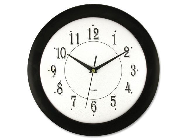 Artistic 12inch Black Frame Round Wall Clock