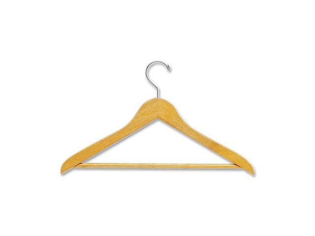 Quartet Natural Wooden Garment Hanger with Pant Rod