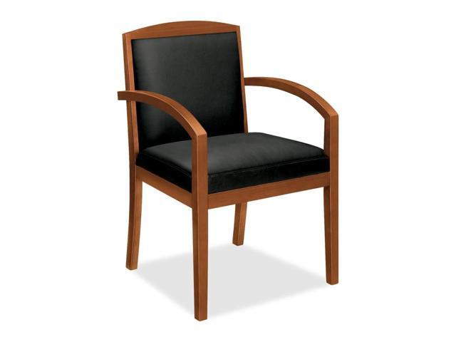 Basyx by HON VL853 Wood Guest Chair With Upholstered Back