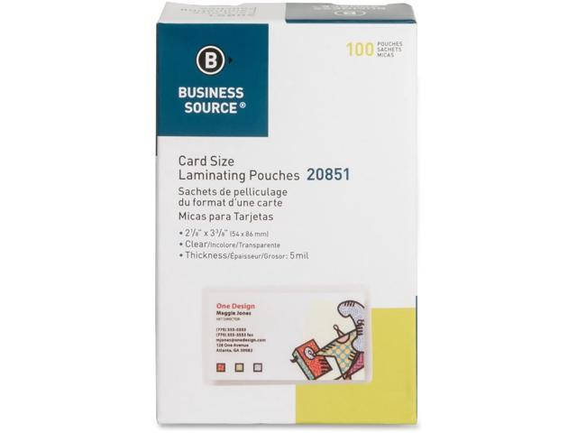 Business Source Credit Card Laminating Pouch