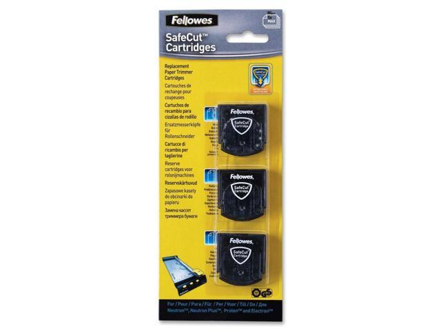 Fellowes 5411304 Replacement Safecut Blade Cartridges - 3pk Assorted