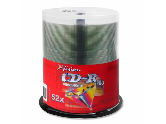 Vision CD Recordable Media - CD-R - 52x - 700 MB - 100 Pack