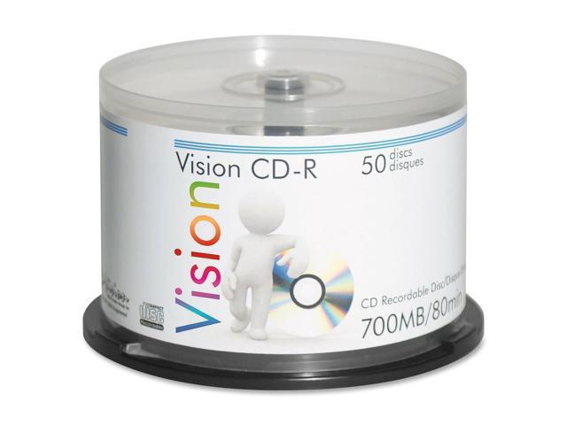 Vision CD Recordable Media - CD-R - 52x - 700 MB - 50 Pack Spindle