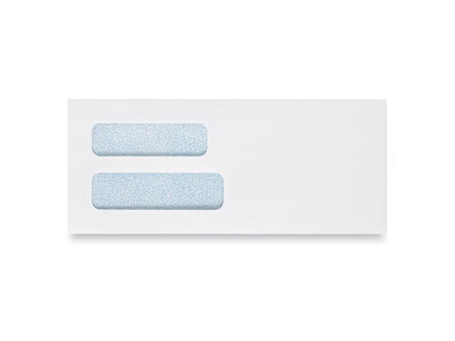 Quality Park Grip-Seal Double View Window Business Envelope