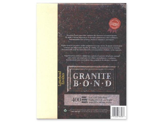 First Base Granite Bond 78303 Laser Paper