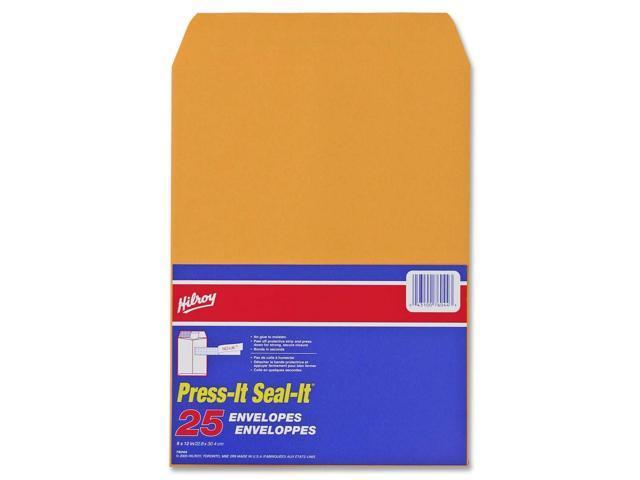 Hilroy Press-It Seal-It Kraft Adhesive Envelope