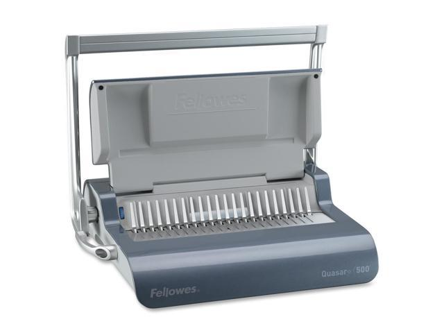 5227201 Fellowes Quasar+ 500 Manual Comb Binding Machine