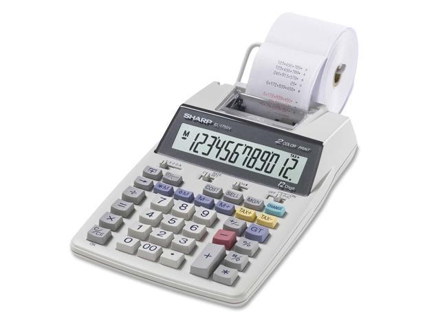 Sharp EL1701V Handheld Printing Calculator