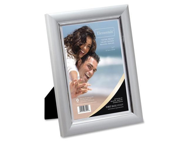 First Base Elementals 5x7 Easy Insert Frame White Pearl
