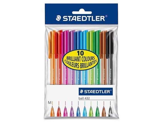 Staedtler 10 Colour Set Ballpoint Stick Pens