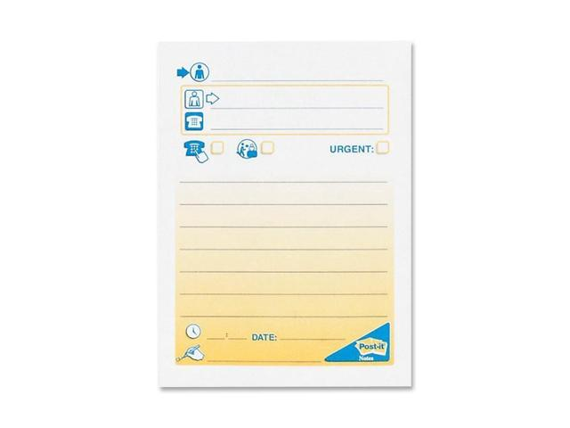 3M Post-it Bilingual Telephone Message Pad